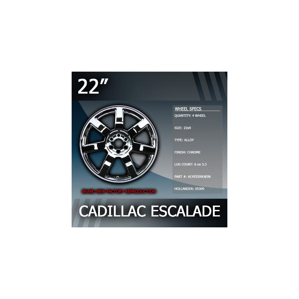 2007 2011 Cadillac Escalade 22 Inch Factory Chrome Wheels Replacement Set of 4