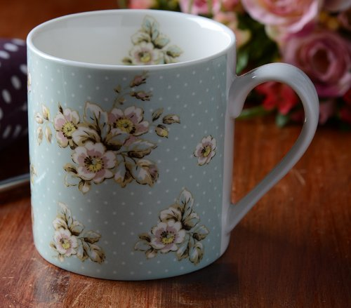Katie Alice Cottage Flower Green Floral Fine China Shabby Chic Mug