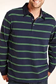 Blue Harbour Pure Cotton Double Fine Stripe Rugby Shirt [T28-2510B-S]