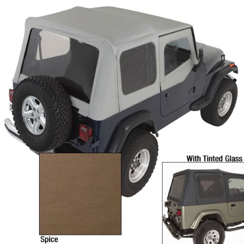 REPLACEMENT SOFT TOP UPPER SKINS SPICE 1988-1995 FOR JEEP WRANGLER YJ