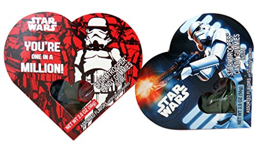 Star Wars Episode VII Stormtrooper Gummy Candy in Heart Box, Assorted Fruit, Pack of 2