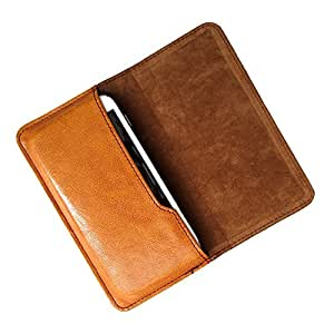 i-KitPit : PU Leather Flip Pouch Case For iBall Andi 4-B2 (BROWN)