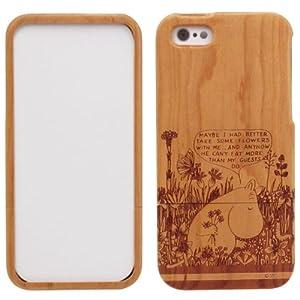 マリモクラフト ムーミン Woodshell for iPhone5 専用 ウッドケース (木製) ムーミン/ブラウン MOM-045