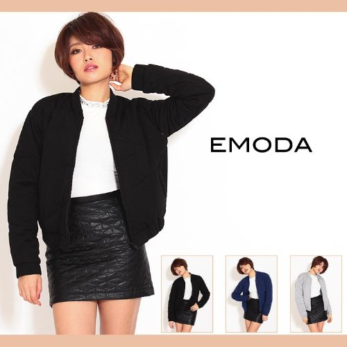 【EMODA(エモダ)】マルチキルティングブルゾン Freeサイズ ブラック