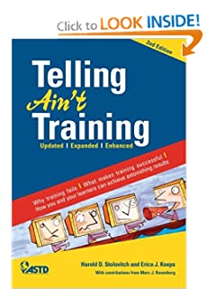 Top 20 books on training and development readytomanage telling aint training 2nd edition by harold d stolovitch and erica j keeps fandeluxe Choice Image