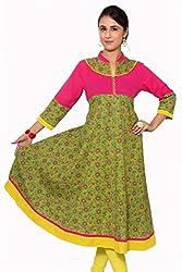 Beautiful Cotton Traditional Womens Anarkali Kurta (42)