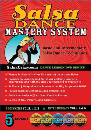 SalsaCrazy Presents: The Complete Salsa Dance Mastery System, 5 DVD Package. Learn to Salsa Dance!