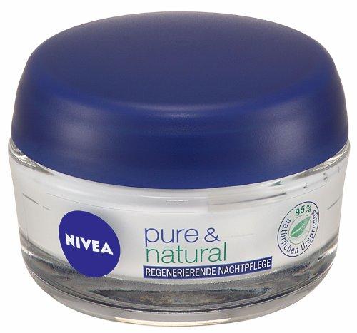 Nivea Visage Pure & Natural Regenerierende Nachtpflege, 50 ml
