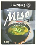 Clearspring Organic Instant Miso Soup and Sea Veg 4 x 10 g (Pack of 4)