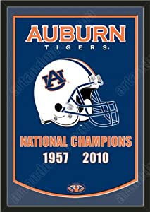 Dynasty Banner Of Auburn Tigers With Team Color Double Matting-Framed Awesome &... by Art and More, Davenport, IA