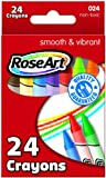 RoseArt 24-Color Crayons, Packaging May Vary (024VA-48)