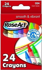 RoseArt 24-Color Crayons, Packaging May Vary (024VA-48)