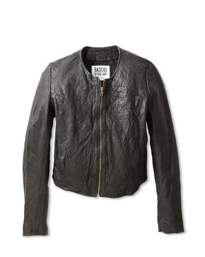 Hare + Hart Davis Leather Jacket  - Black