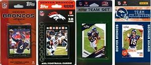 NFL Denver Broncos 4 Different Licensed Trading Card Team Sets by C&I Collectables