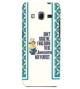 Fuson 3D Printed Quotes Designer back case cover for Samsung Galaxy Core Prime G360H - D4450