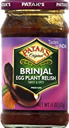 Patak\'s Brinjal (Egg Plant) Relish 11-ounce Jars (Pack of 6)