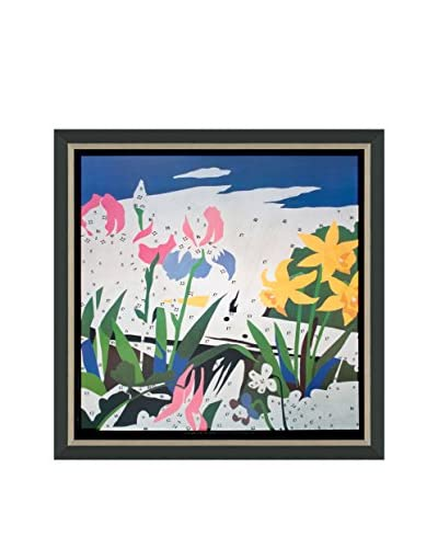 """Andy Warhol """"Do It Yourself (Flowers)"""" (Printed In 1990) Framed Poster"""