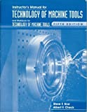 img - for Instructor's Manual & Workbook for Technology of Machine Tools, 5th Edition by Steve F. Krar (1996-12-01) book / textbook / text book