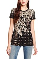 Just Cavalli Camiseta Manga Corta (Negro / Arena)