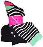 Betsey Johnson Women's Socks Black Combo (pack of 3)