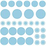 Bobee Wall Decals (many colors available), light blue peel & stick confetti dots