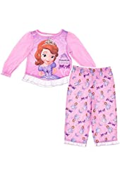Sofia the First Pink Pajamas for Little Girls'