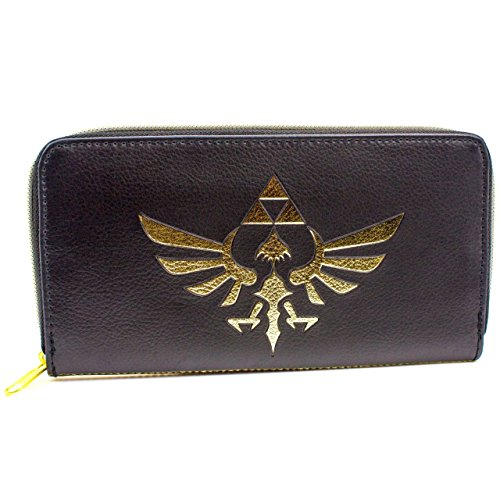 Nintendo Legend of Zelda L'oro Emblema Nero portafoglio