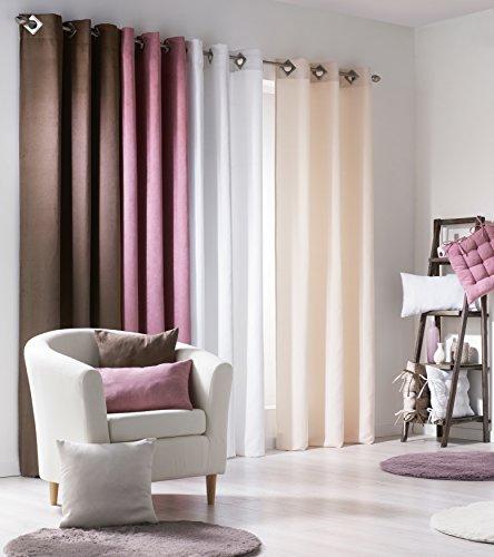 douceur d 39 int rieur rideau avec oeillets carr s su de polyester rose 140 x 240 x 240 cm. Black Bedroom Furniture Sets. Home Design Ideas
