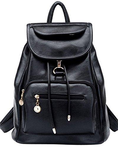 Coofit-Damen-Vintage-Leder-Rucksack-Schultasche-Daypacks-Fr-Outdoor-Sports