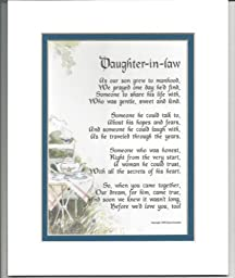 Daughter-in-law Gift Present Poem For Bridal Shower Or Birthday #89,