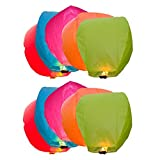 Santa Stores Sky Lantern Standard Pack of 10 (90cms X40cms X38cms)
