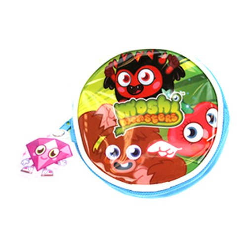 Moshi Monsters Kids Childrens Zipped Round Coin Money Purse Wallet Gift