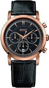 Hugo Boss 1512781 Watch HB1013 Mens - Black Dial Stainless Steel Case Quartz Movement