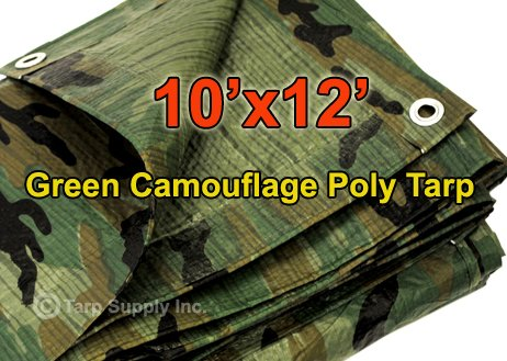 10'x12′ Green Camouflage Poly Tarp