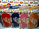 4 x JELLY BELLY 2D BEAN SWEETS SCENT CAR AIR FRESHENER -4 X different of fragrances