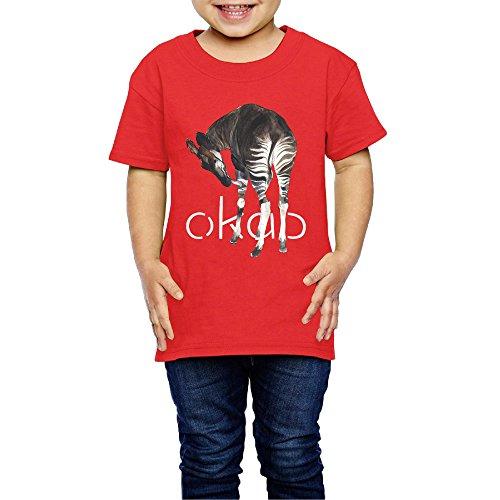 Unisex Kid Okapi Leisure Tee-shirt Unique