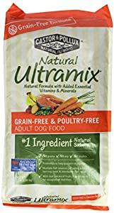 Castor & Pollux Natural Ultramix Grain-Free and Poultry-Free Adult Dry Dog Food, 15 Pound Bag