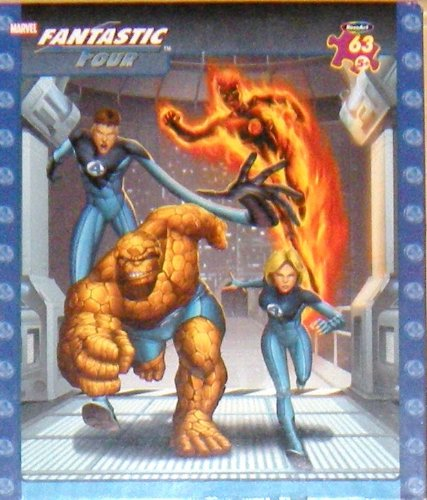 Marvel Fantastic Four Puzzle ~ To the Rescue! ~ 63 Pieces