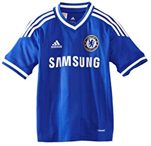 adidas Boy's Chelsea FC Home Jersey - CFC Reflex Blue/White, Size 164
