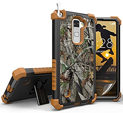 LG STYLO 2 CASE, AUTUMN LEAF TREE CAMO WOODS RUGGED REALTREE CASE COVER STAND FOR LG STYLO-2 4G PHONE (Boost Mobile LS775, Cricket K520) (aka Stylus-2) from Beyond Cell