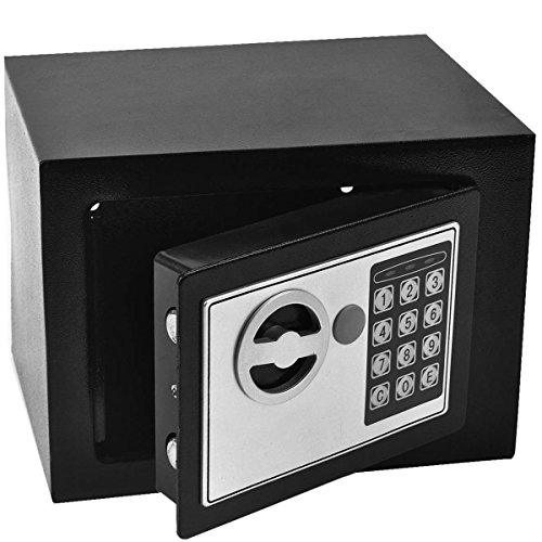 Safstar Durable Digital Electronic Safe Box Keypad Lock Home Security Code Box for Cash Gun Jewelry