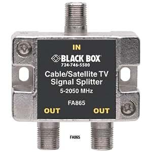 Amazon.com: Black Box Cable/Satellite TV Signal Splitter