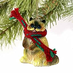 1 X Ragdoll Cat Tiny Miniature One Christmas Ornament - DELIGHTFUL! by Conversation Concepts
