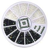 Nagelkunst Zubehör Acryl Studs Nagelsticker DIY Maniküre Tips Dekoration Wheel