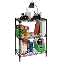 HDX 3 Shelf Steel Shelving Unit (Black)