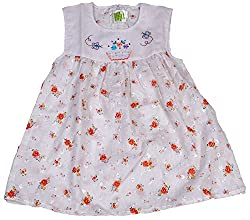 Be BeBo Girl's cotton Regular Fit Dress (551, Saffron, 2-3yrs)