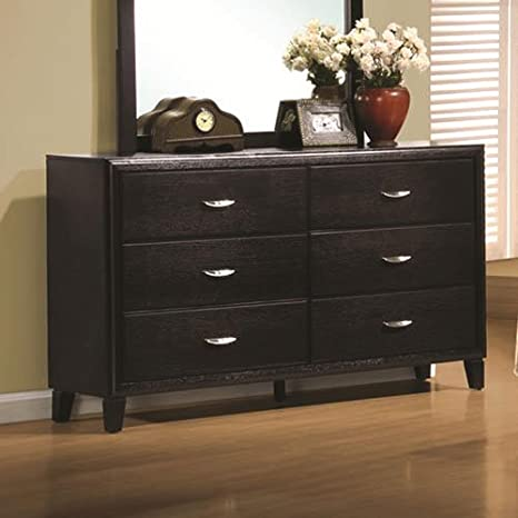 Coaster Home Furnishings 201963 Casual Contemporary Dresser, Espresso