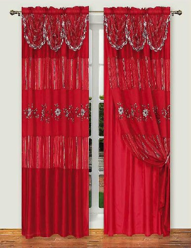 Dainty Home Monte Carlo Panel with Attached Valance