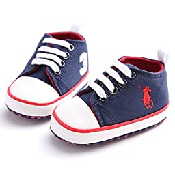 NEW Blue Baby Boy Shoes Infant Children Sport Sneakers Canvas Kids Boots Toddler First Walker Boys Chaussures Bebe Sapatos Age 0-18M (1 US Size, Navy Blue)