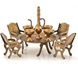 Unique Design Dining Table Chair Maharaja Set (196, Brown)